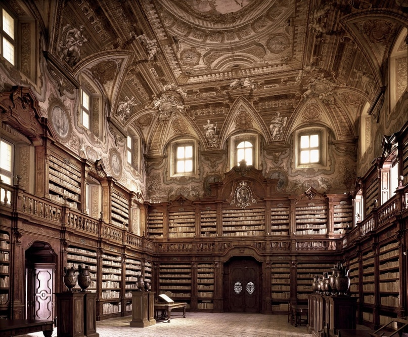 Biblioteca Joanina, Coimbra, Portugal. It is one of only two libraries in the world that houses bats to protect the books against insects